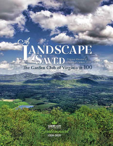 A Landscape Saved: The Garden Club of Virginia at 100 [Paperback]